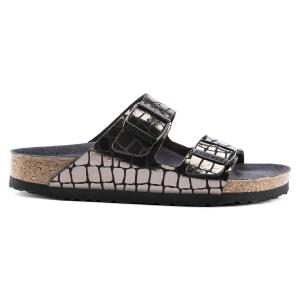 Γυναικεία σανδάλια Birkenstock Arizona Birko Fibre Gator Gleam Black