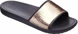 Γυναικείες σαγιονάρες Crocs Hammered Met Slide 08O-Black/Rose gold